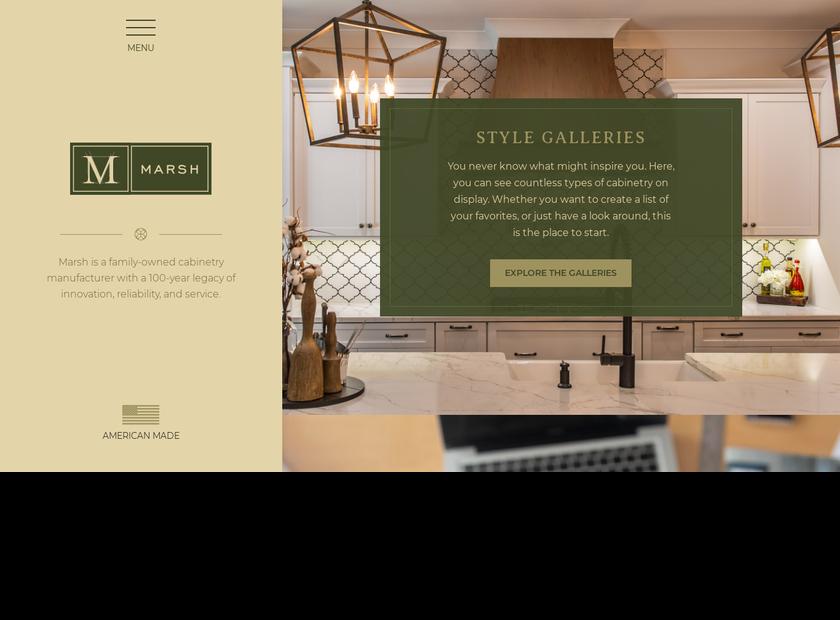 Marsh Furniture Company homepage screenshot
