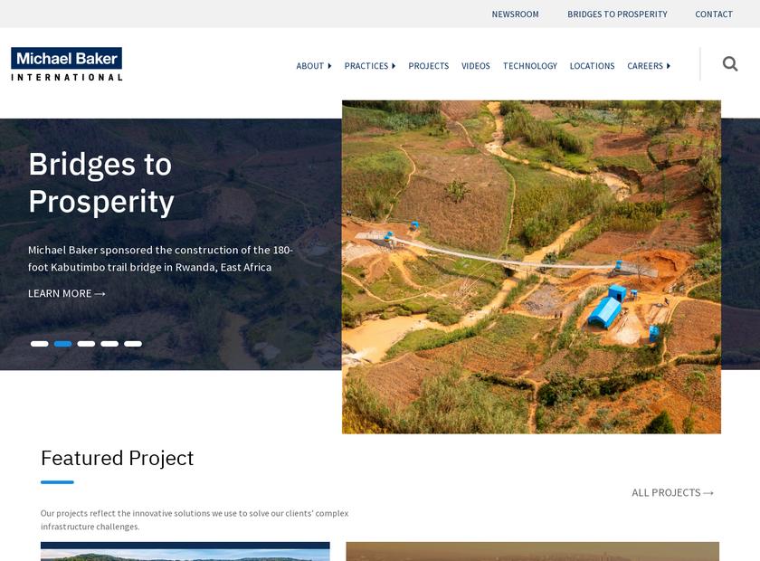 Michael Baker International LLC homepage screenshot