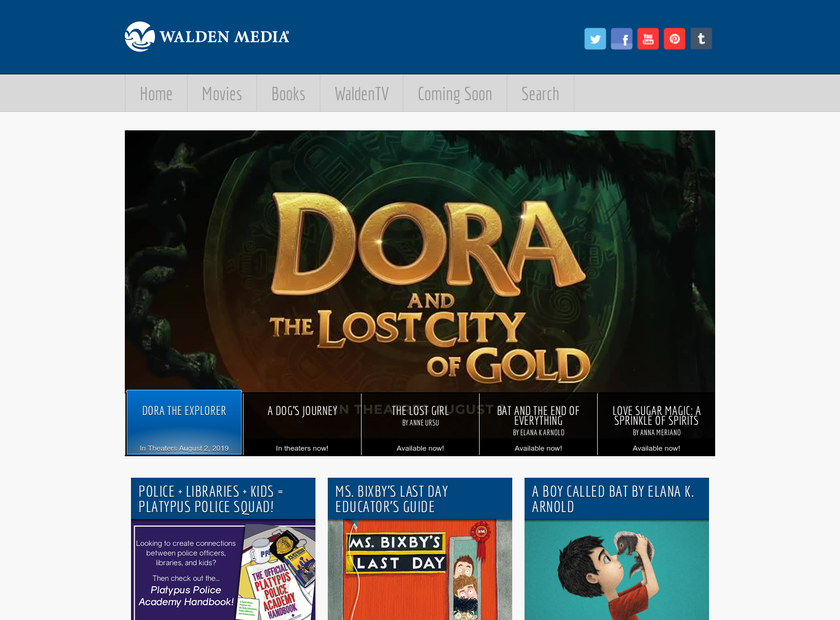 Walden Media LLC homepage screenshot