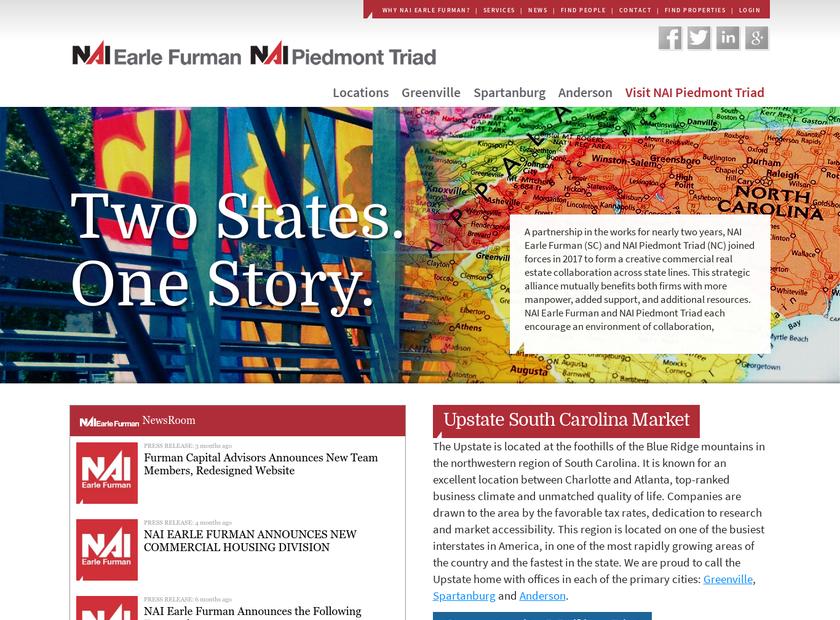 NAI Earle Furman , LLC homepage screenshot