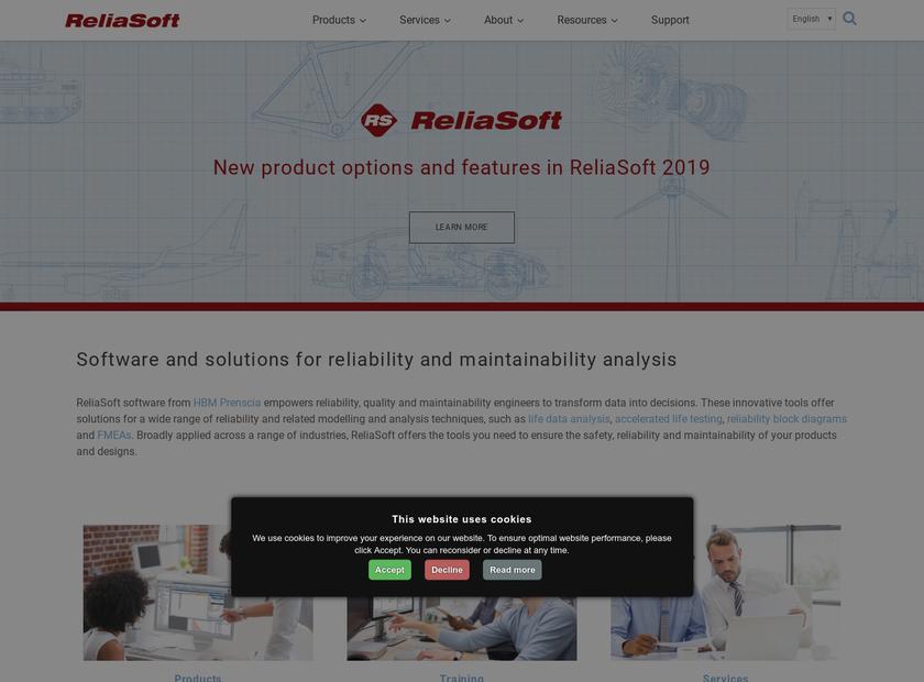 ReliaSoft Corporation homepage screenshot