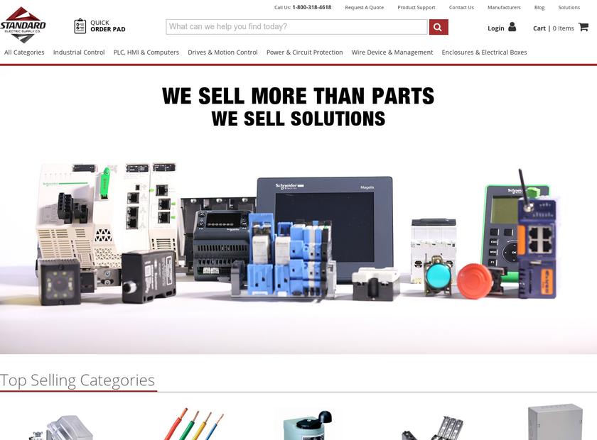 Standard Electric Supply Co. homepage screenshot