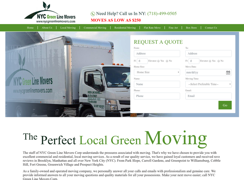 City Express Moving Inc homepage screenshot