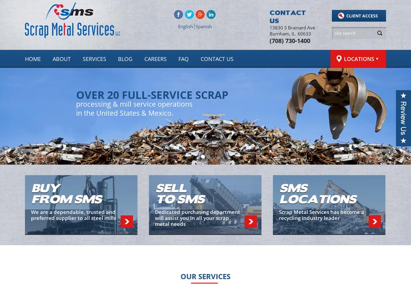 Scrap Metal Services , LLC homepage screenshot