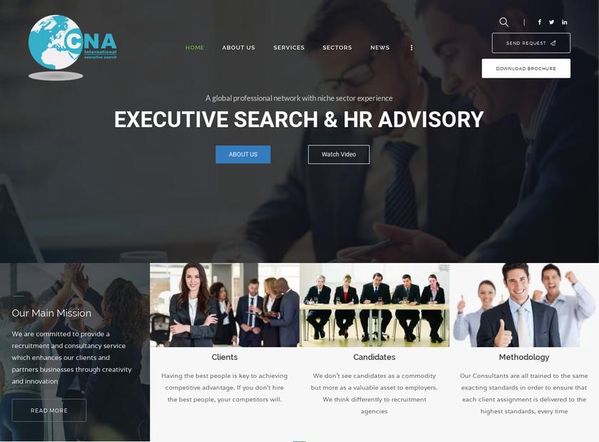 CNA International Ltd homepage screenshot