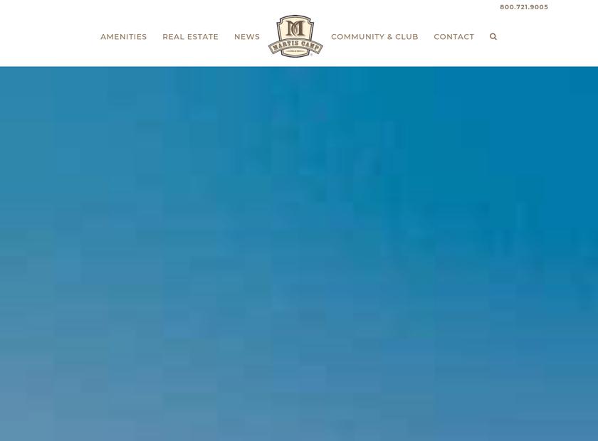 Martis Camp homepage screenshot