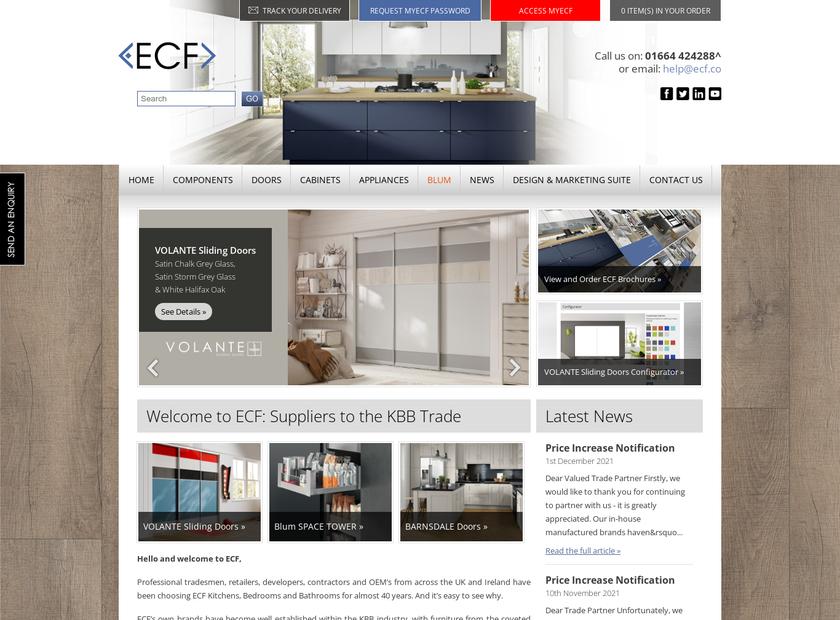 ECF Ltd homepage screenshot