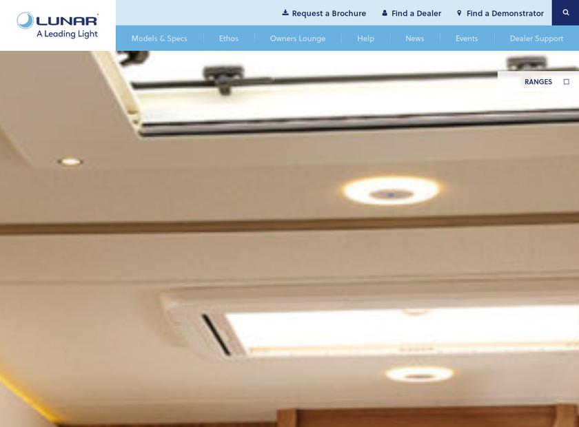 Lunar Caravans Ltd homepage screenshot