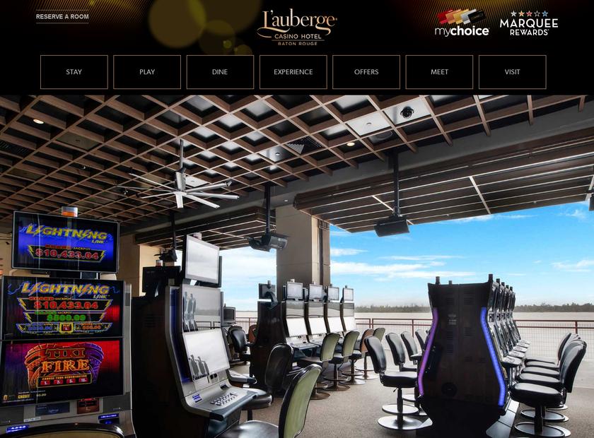L'Auberge Baton Rouge homepage screenshot