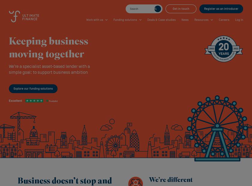 Ultimate Finance Group plc homepage screenshot