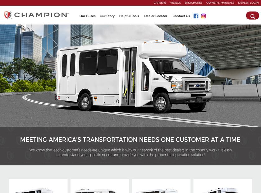 Champion Bus Inc homepage screenshot