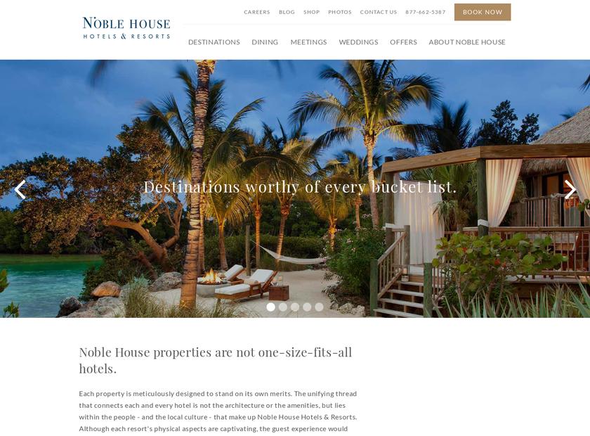 Noble House Hotels & Resorts , Ltd. homepage screenshot