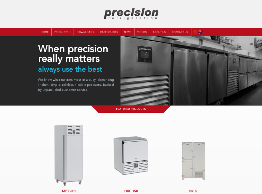 Precision Refrigeration Limited homepage screenshot