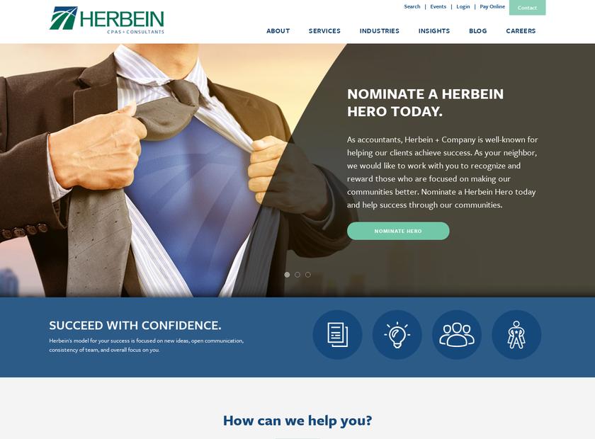 Herbein + Company Inc homepage screenshot