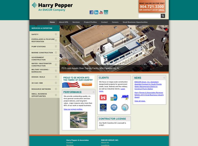 Harry Pepper & Associates Inc homepage screenshot