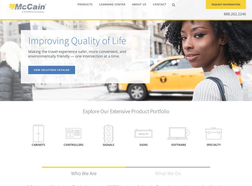McCain Inc homepage screenshot