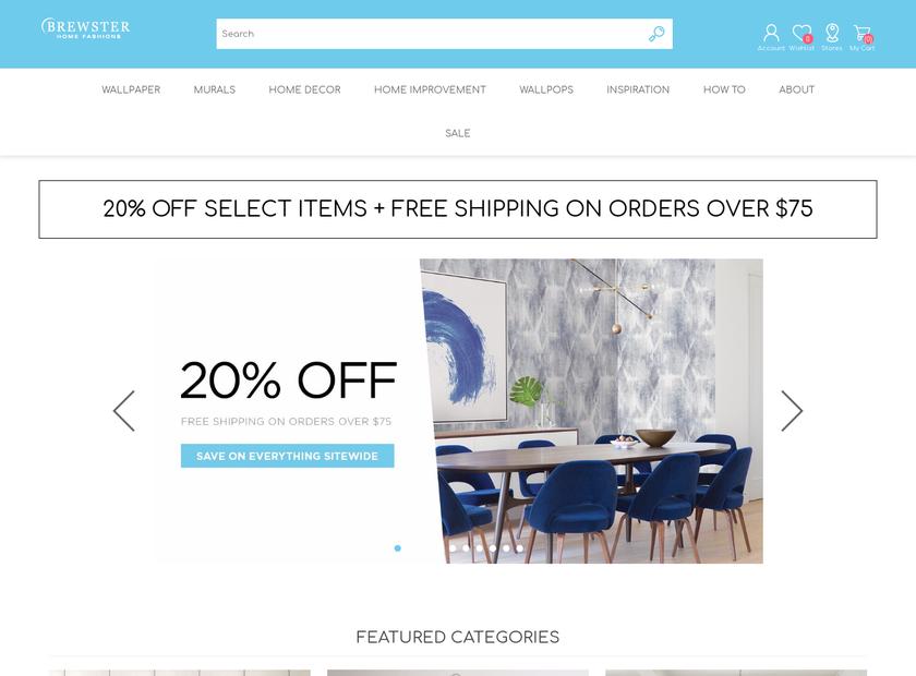 Brewster Wallcovering Company homepage screenshot