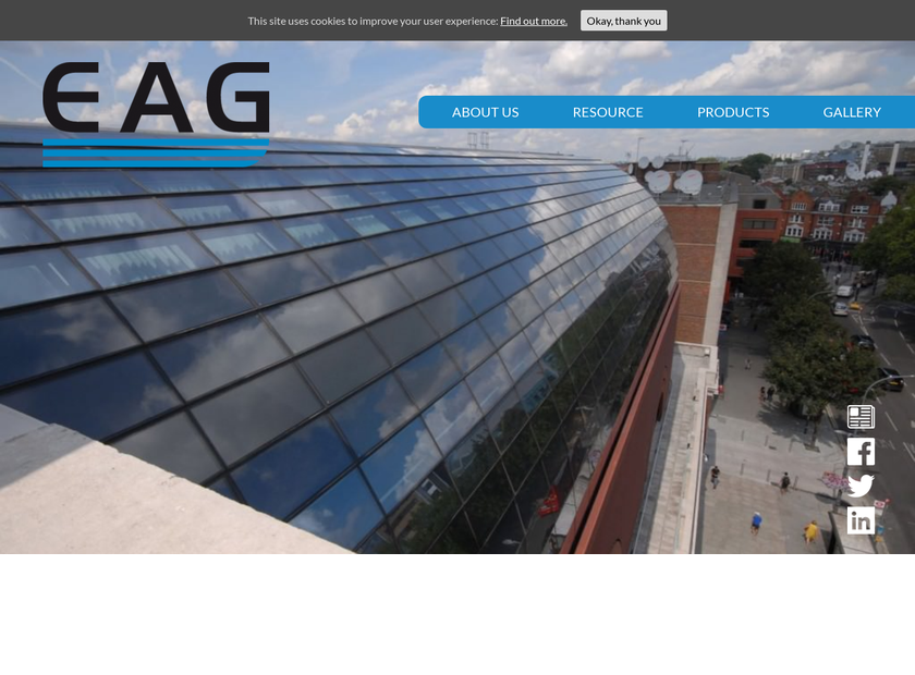 English Architectural Glazing Ltd homepage screenshot