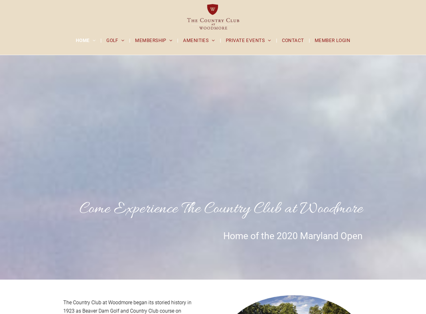 Woodmore homepage screenshot
