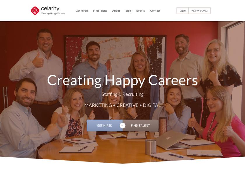 Celarity Inc homepage screenshot