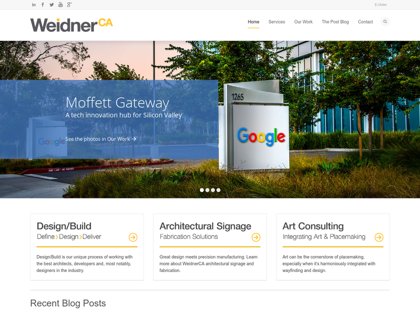 WeidnerCA homepage screenshot