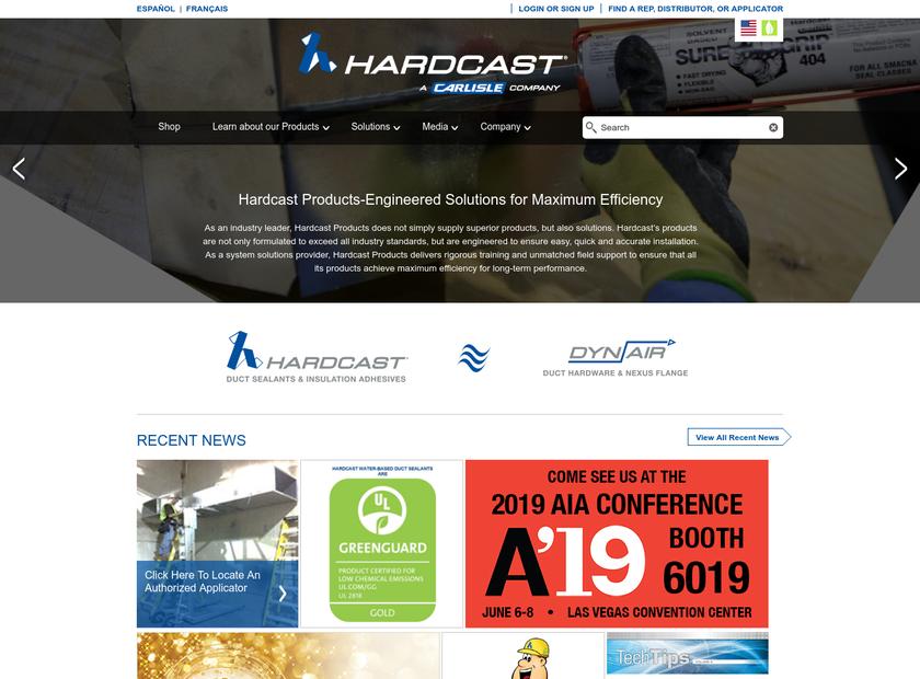 Carlisle HVAC Products homepage screenshot
