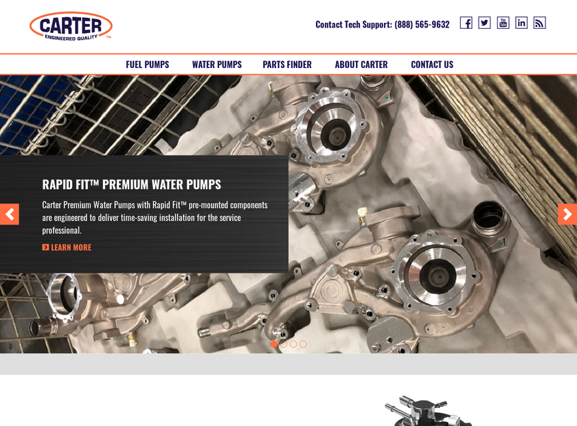 Carter Fuel Systems LLC homepage screenshot