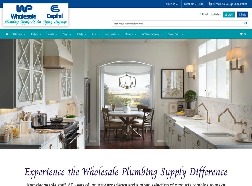 Wholesale Plumbing Supply Co. Inc homepage screenshot