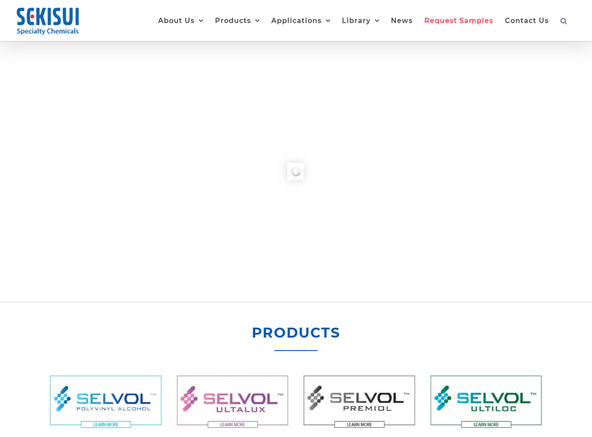 Sekisui Specialty Chemicals homepage screenshot