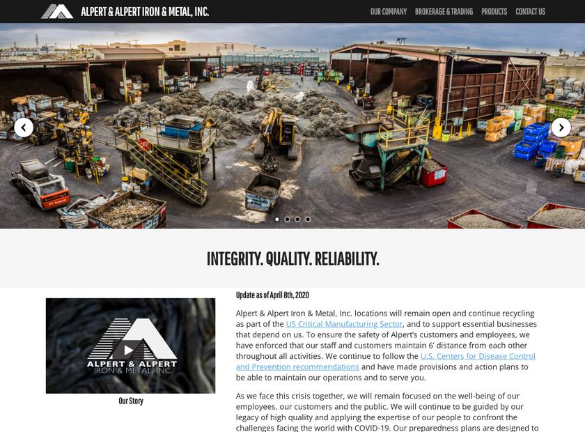 Alpert & Alpert homepage screenshot