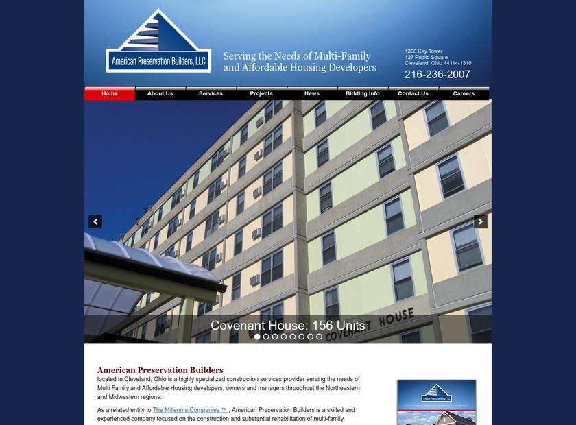 American Preservation Builders, LLC homepage screenshot