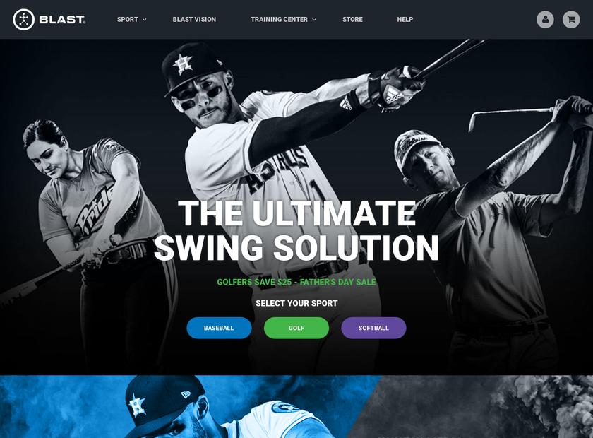 Blast Motion Inc homepage screenshot