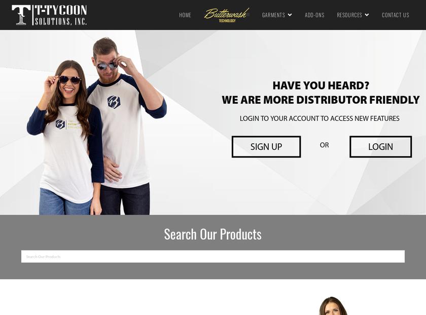 T-Shirt Tycoon Solutions Inc homepage screenshot