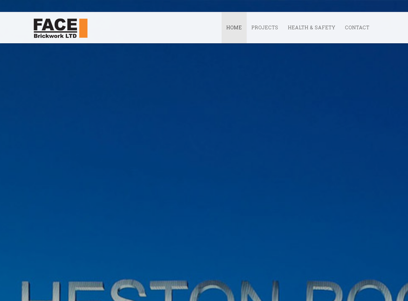 FACE Brickwork Ltd homepage screenshot