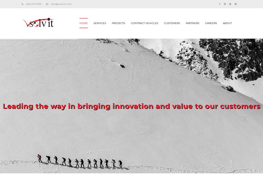VSolvit LLC homepage screenshot