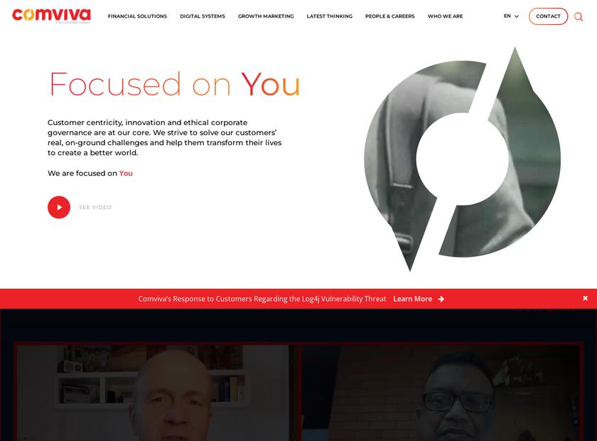Comviva Technologies Limited homepage screenshot