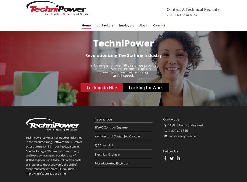 Technipower Inc homepage screenshot