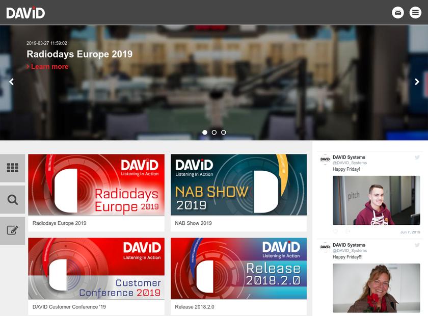 DAVID Systems GmbH homepage screenshot