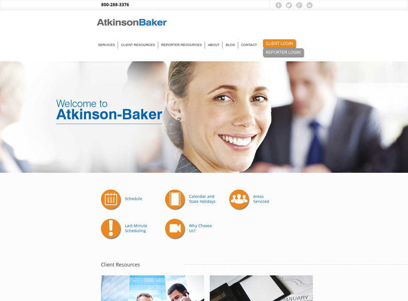 Atkinson-Baker Inc homepage screenshot