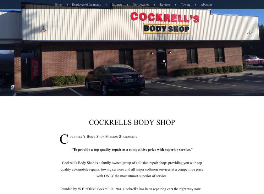 Cockrell's Body Shop homepage screenshot