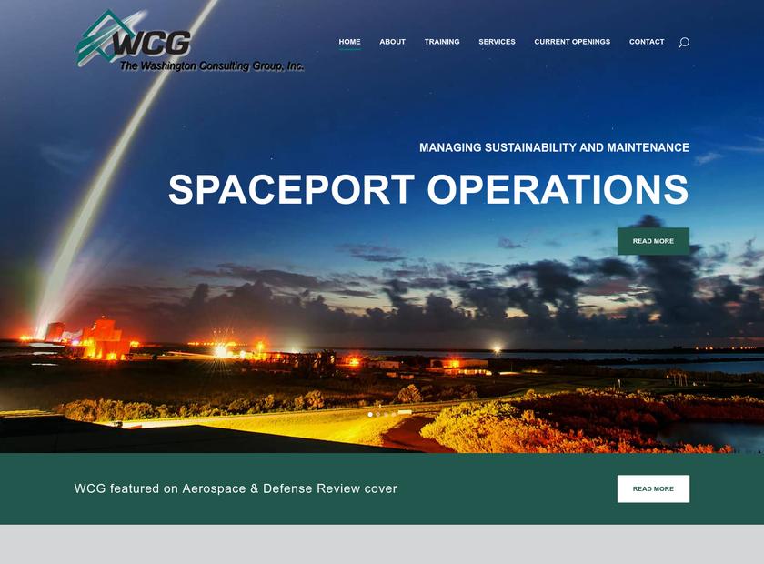 The Washington Consulting Group Inc homepage screenshot