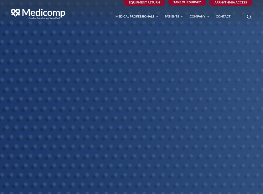 Medicomp Inc homepage screenshot