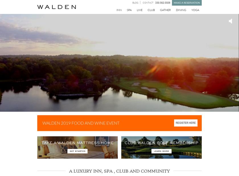 Your Walden homepage screenshot