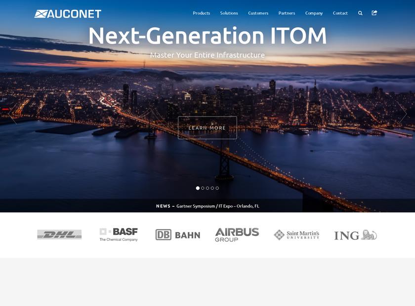Auconet , Inc. homepage screenshot