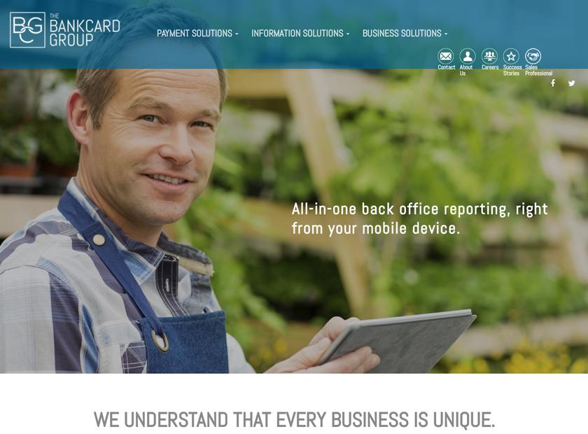 The BankCard Group homepage screenshot
