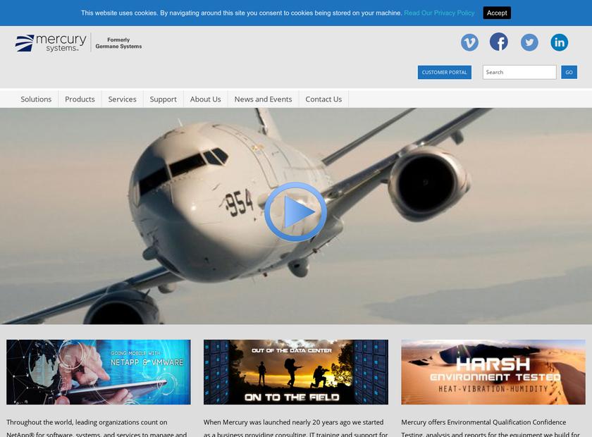 Germane Systems homepage screenshot