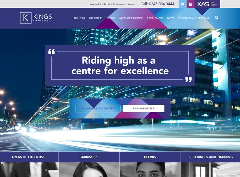 Kings Chambers Ltd homepage screenshot