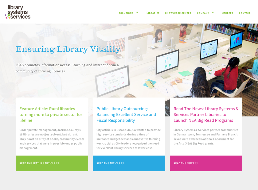 Library Systems and Services , Inc. homepage screenshot