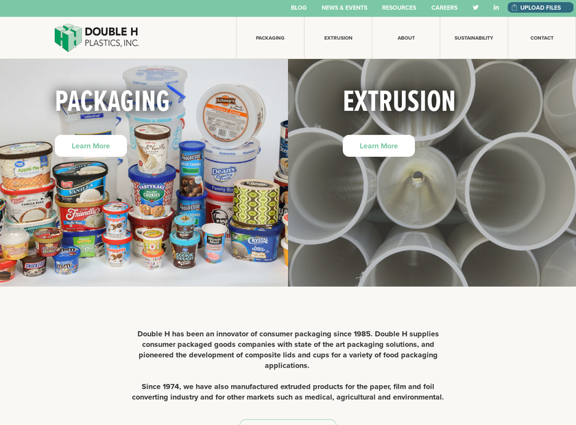 Double H Plastics Inc homepage screenshot