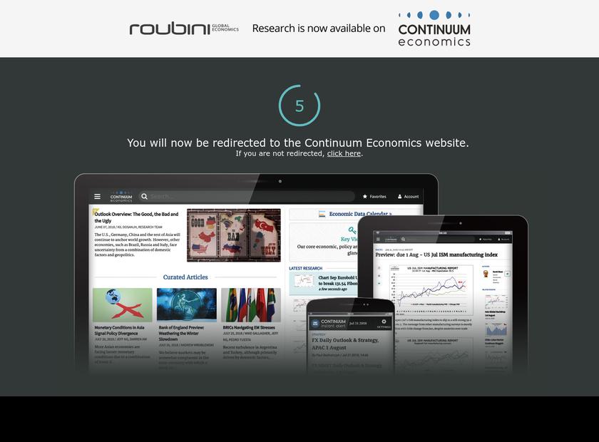 Roubini Global Economics LLC homepage screenshot